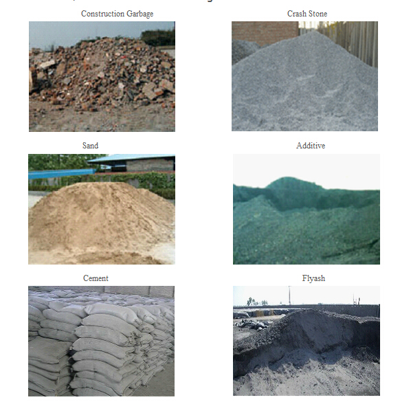 raw material for brick making machine